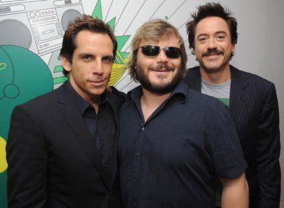 Robert Downey Jr., Ben Stiller and Jack Black at event of Tropic Thunder (2008)