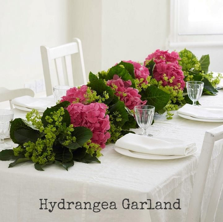 Diy tutorial hydrangea garland garlands and