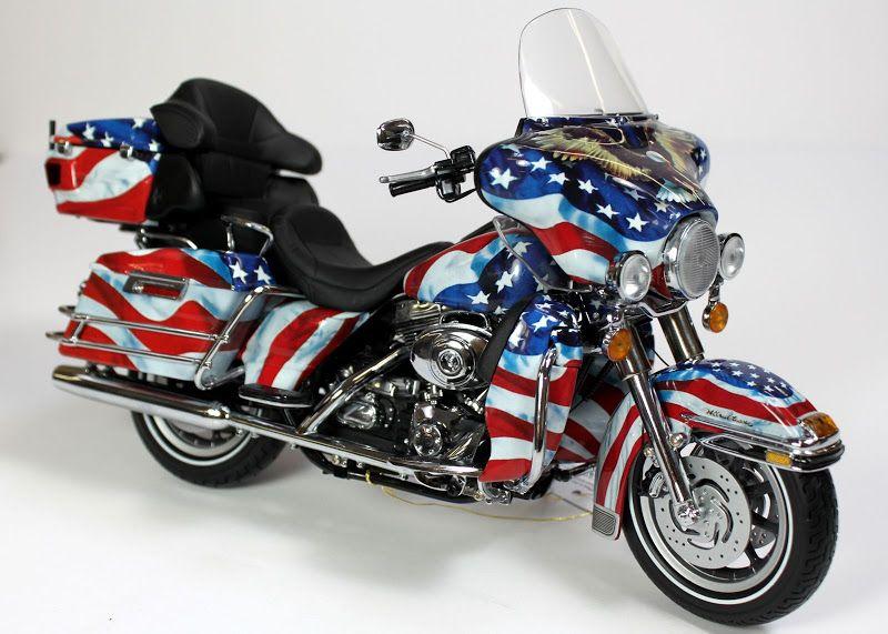 Franklin Mint Harley Davidson Electra Glide Diecast