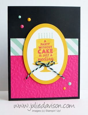 Stampin Up Party Wishes Pop Up Birthday Card Julies Stamping