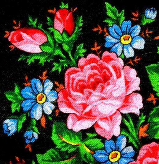 """Оригинал схемы вышивки «Подушка """"Розы и незабудки""""»   Розы ..."""
