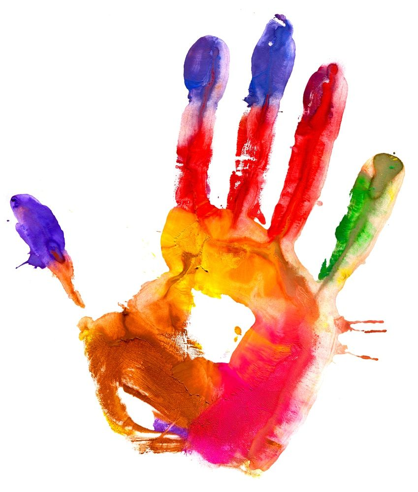 Image result for colourful handprint