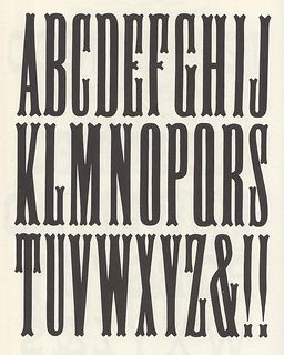 Woodtype found on flickr