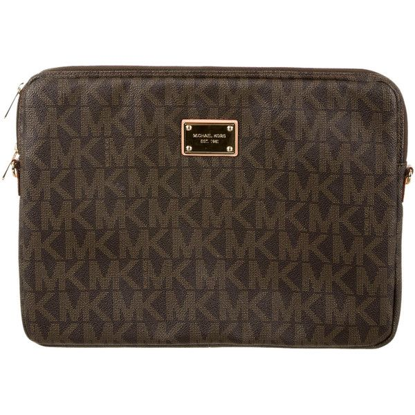 96ab083450bfb Pre-owned Michael Kors Laptop Case ( 50) ❤ liked on Polyvore featuring  accessories