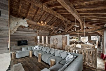 Alpine Technology rustic-living-room