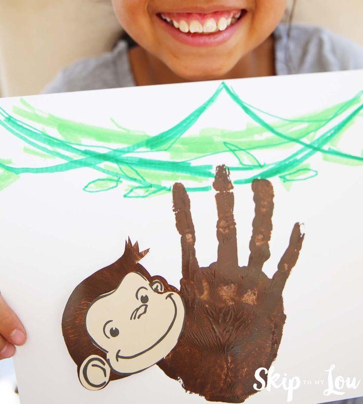 Monkey Crafts For Kids Part - 16: Curious George Handprint Monkey Craft