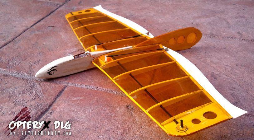 Opteryx-Micro-DLG | Balsa models | Rc glider, Model