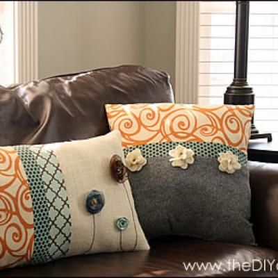 How to Make Embellished Pillows Pillows Winter and Gift