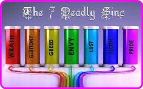 The Colors Of The Seven Deadly Sins 7 Sins Seven Deadly Sins 7