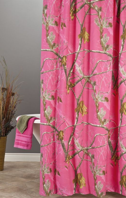 Realtree Hot Pink Camo Shower Curtain