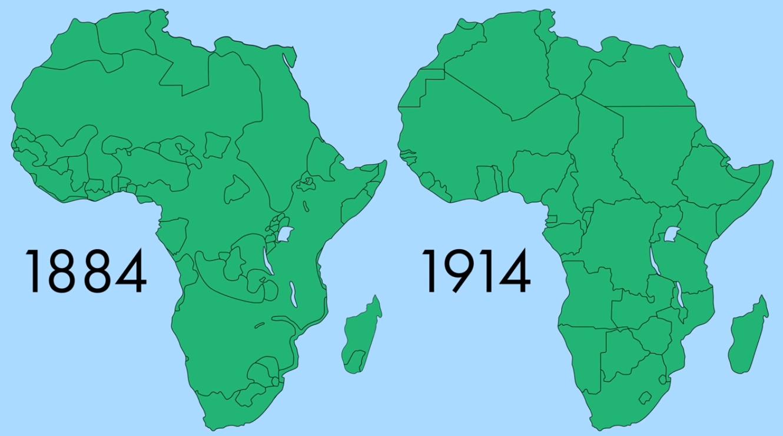 Boundaries of Africa (1884 vs 1914) | Свят | Africa continent
