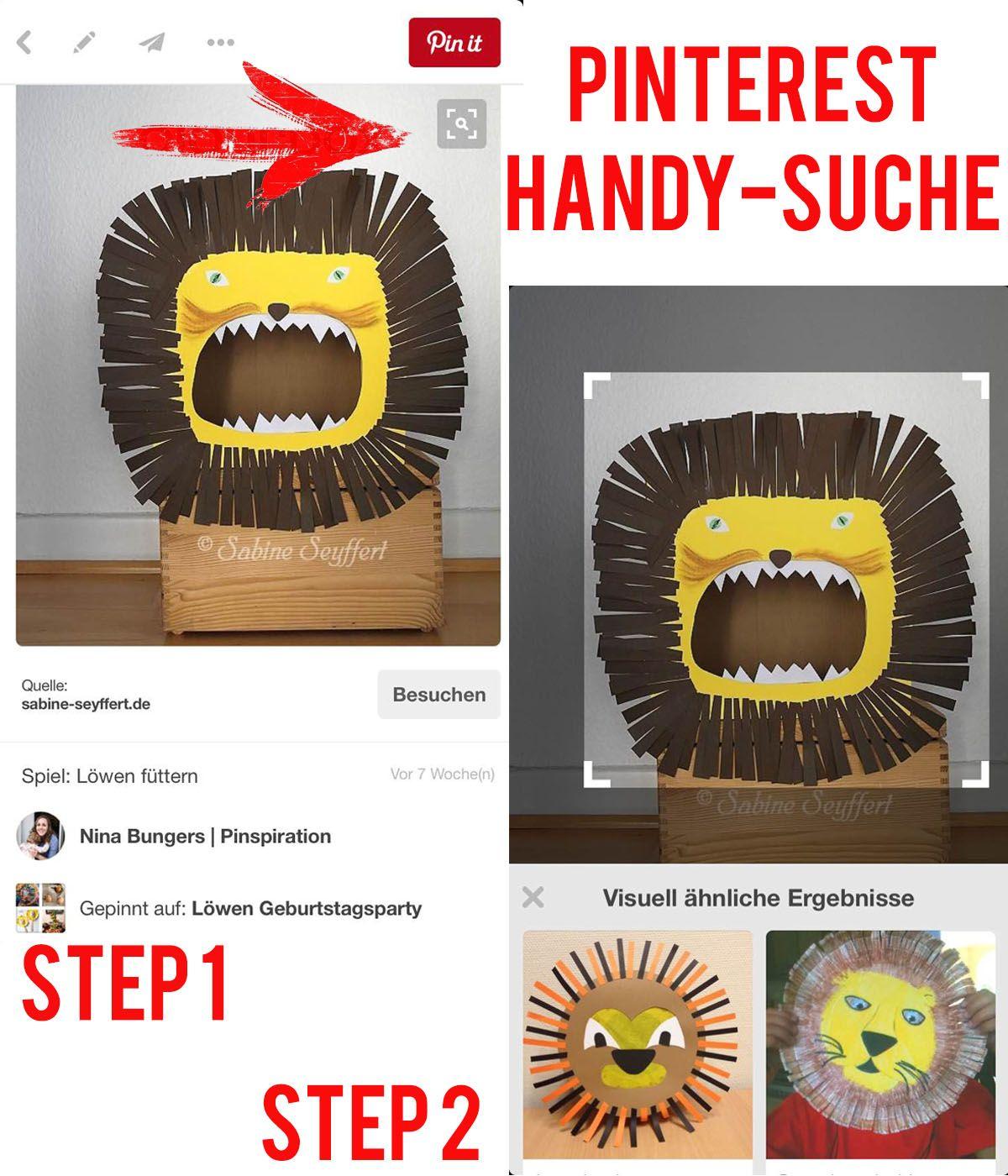 Kindergeburtstag mit Pinterest planen: Friedrichs Löwenparty - Erfahre alles, wie man auf Pinterest erfolgreich die Suchfunktionen für Projekte nutzen kann und wie Pinterest dabei helfen kann, eine Kindergeburtstags-Mottoparty zu planen | Pinspiration