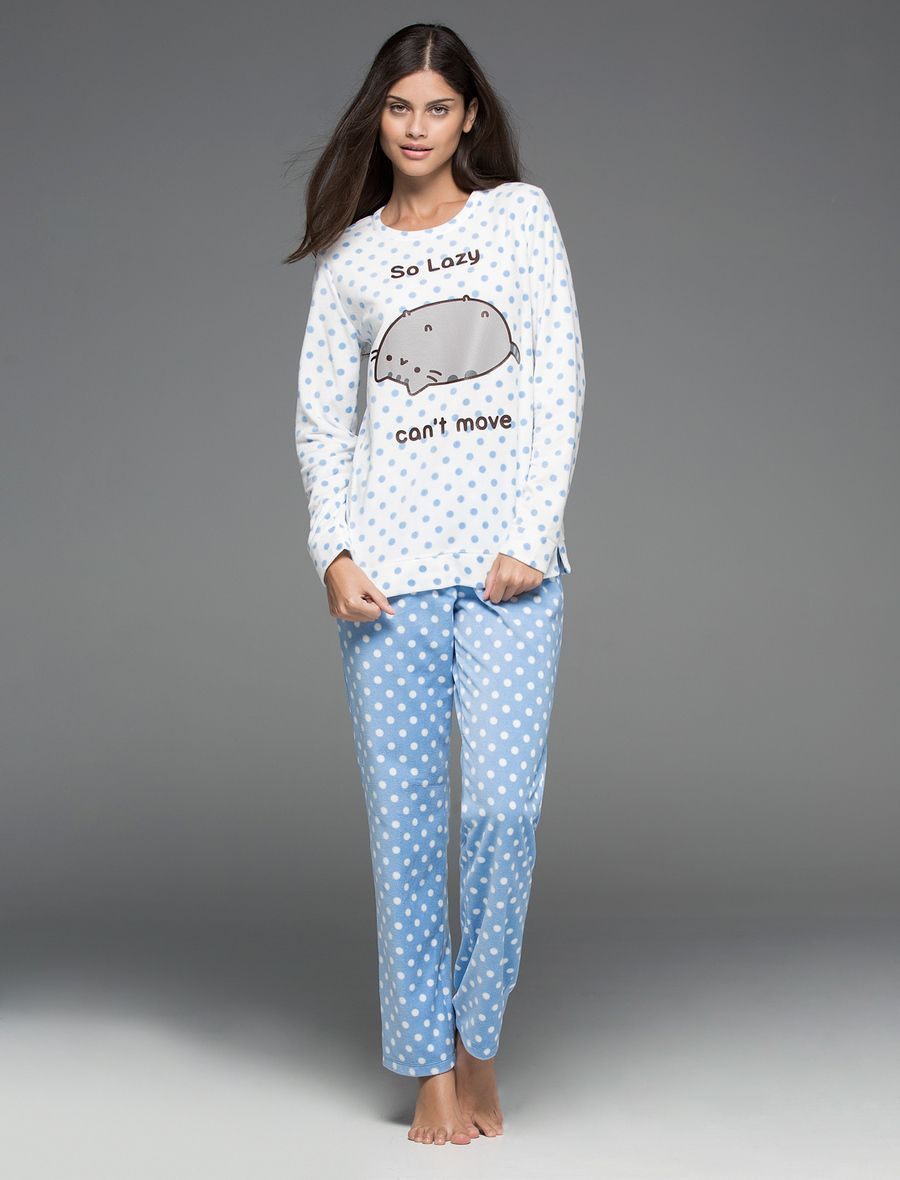Pijama largo polar de Pusheen, Women'secret