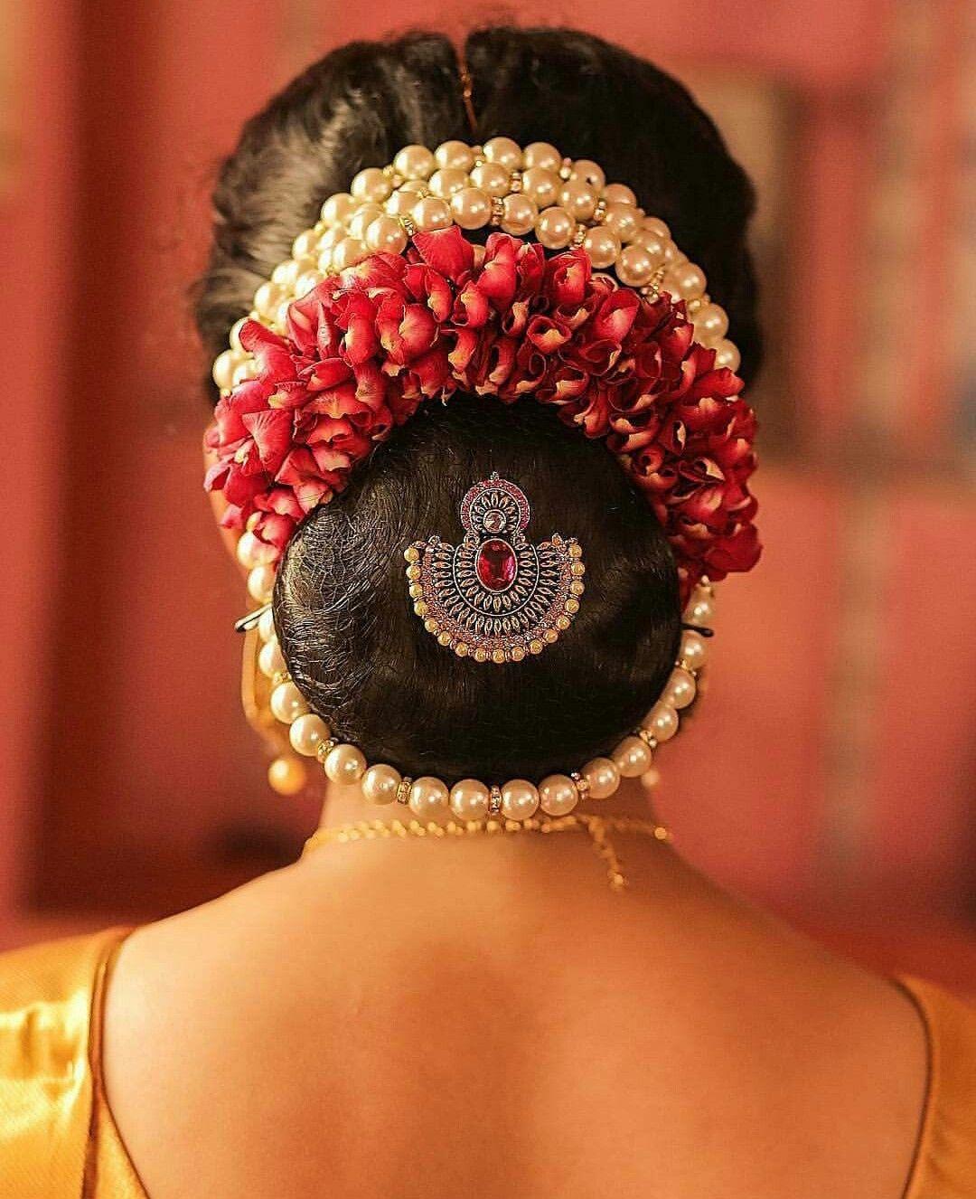 Pin By Revati Andisamy On Hairdo Wedding Bun Hairstyles Bridal Hair Buns Indian Bun Hairstyles