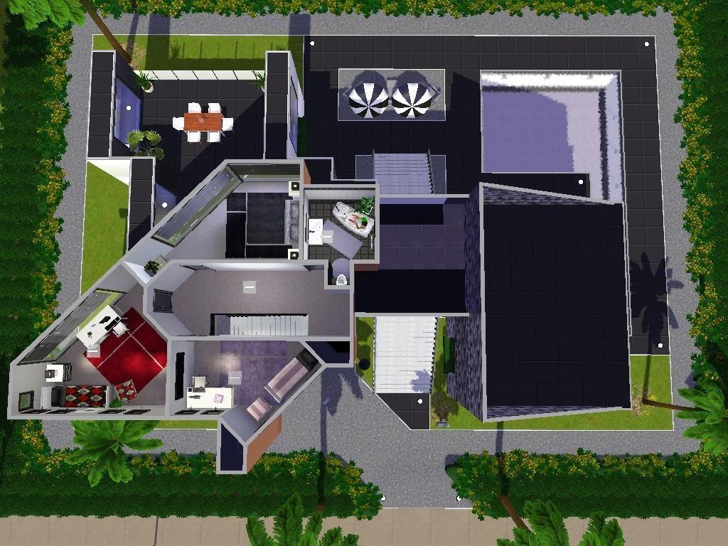 Sims 3 Modern House Plans Sims 4 Modern House House Blueprints Small House Blueprints