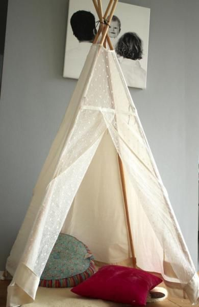 neu m dchen traum mit transparentem spitzenstoff kleines kindertipi tipis kinder tipi. Black Bedroom Furniture Sets. Home Design Ideas