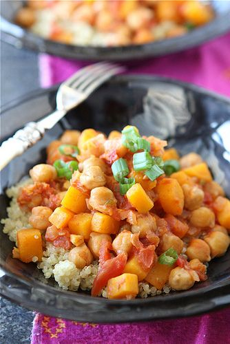 Getting excited for Meatless March! Vegetarian Stew with Quinoa, Butternut Squash & Coconut Milk