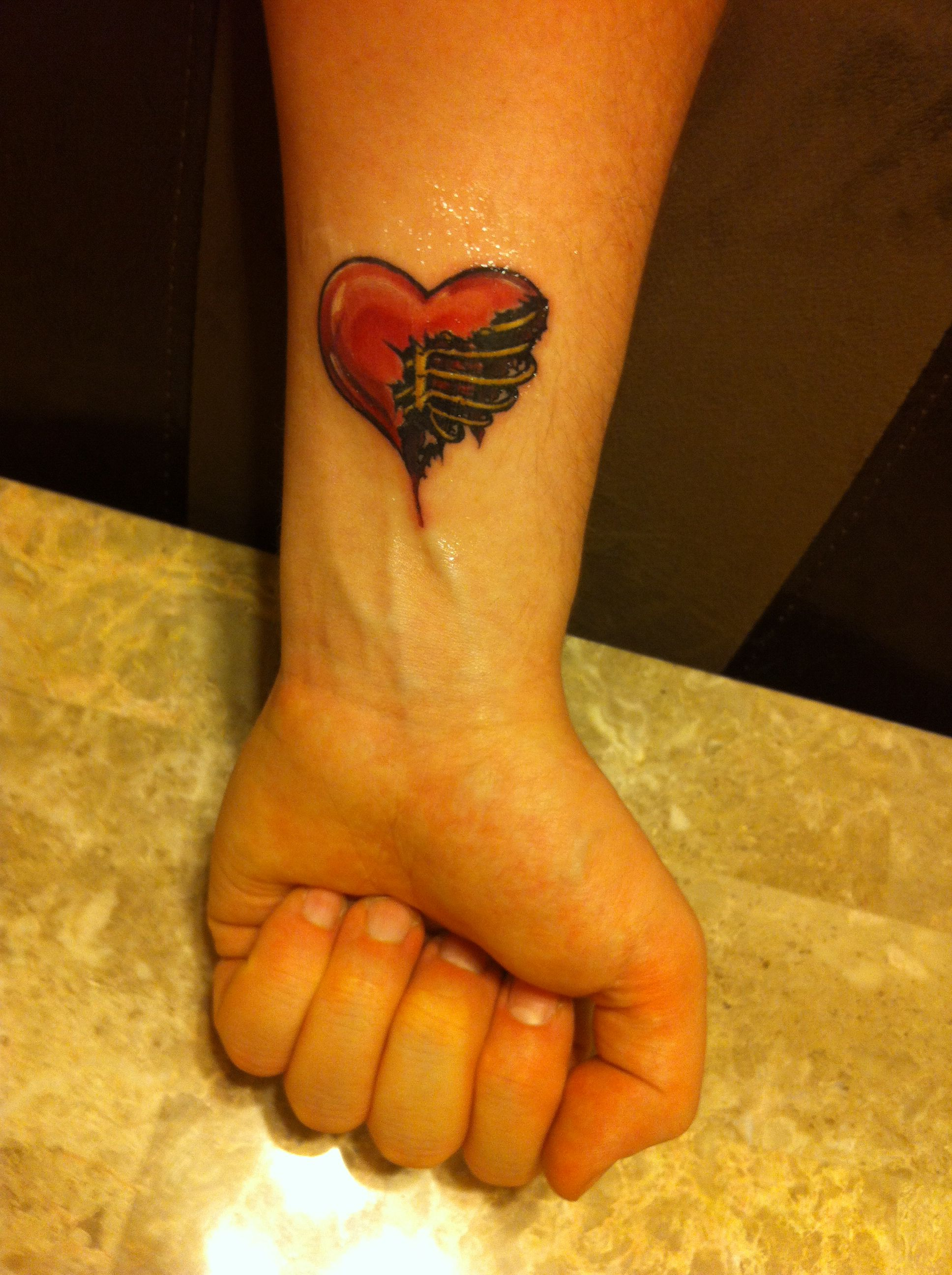 I wear my heart on my sleeve my 1st tattoo Love tattoos