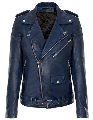 Ink Blue Leather Jacket 8 | BLK DNM | Avenue32
