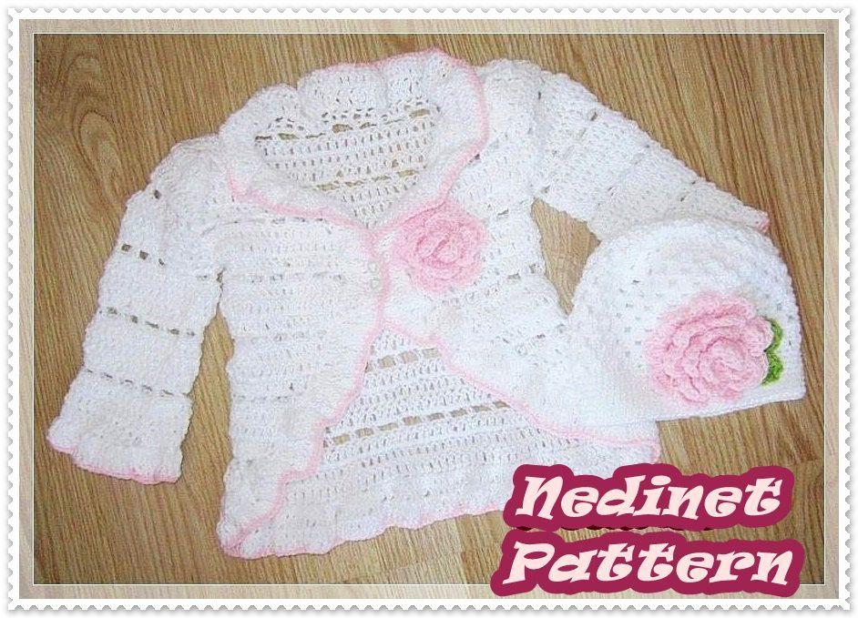 Crochet Baby Cardigan Pattern Crochet Beanie Pattern Ruffled