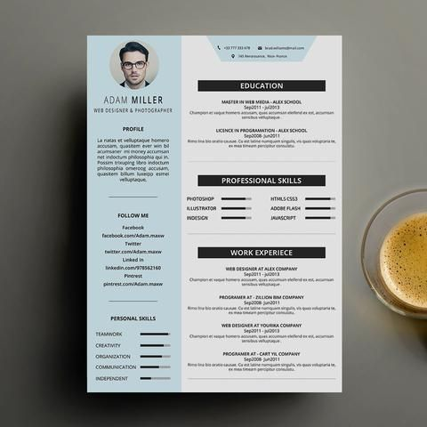 Resume - Resumes Stationery - Free Resume - Cv - curriculum vitae - free print resume