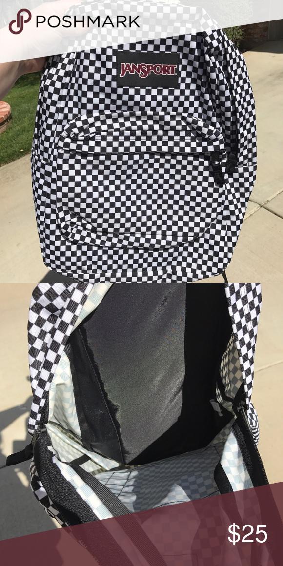 Jansport Black and White Checkered Backpack | Jansport