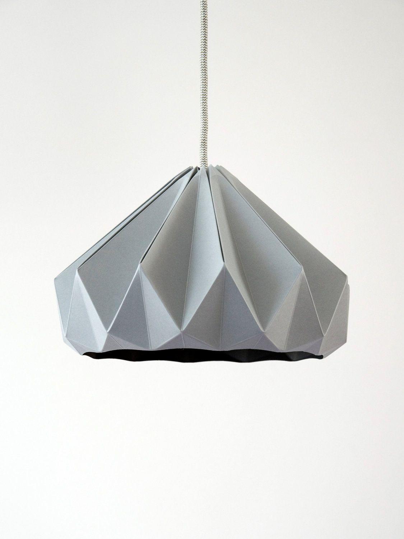 Chestnut paper origami lampshade grey origami lampshade lights chestnut paper origami lampshade grey aloadofball Gallery
