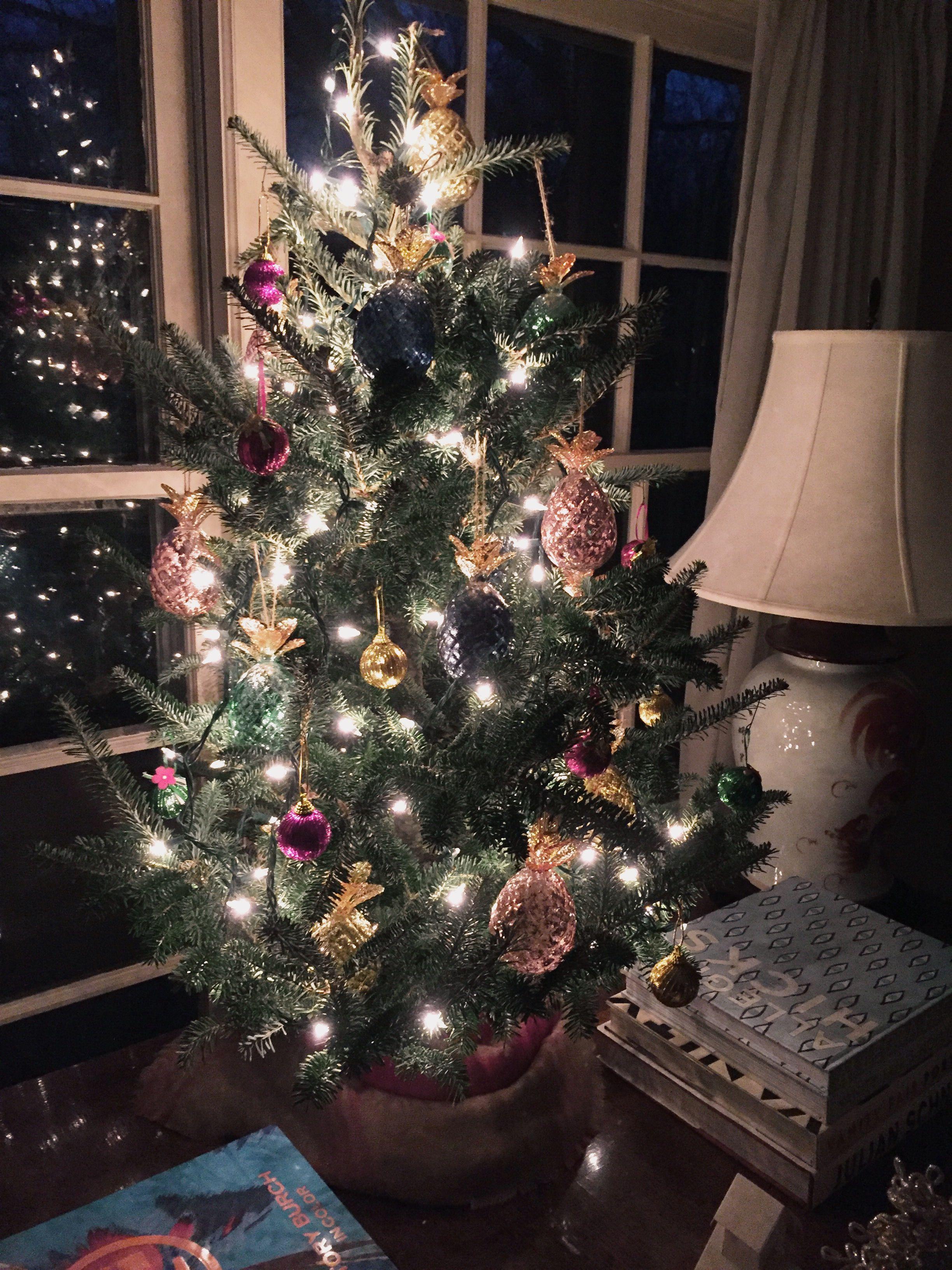 Pineapple Tabletop Christmas Tree Christmas Pinterest