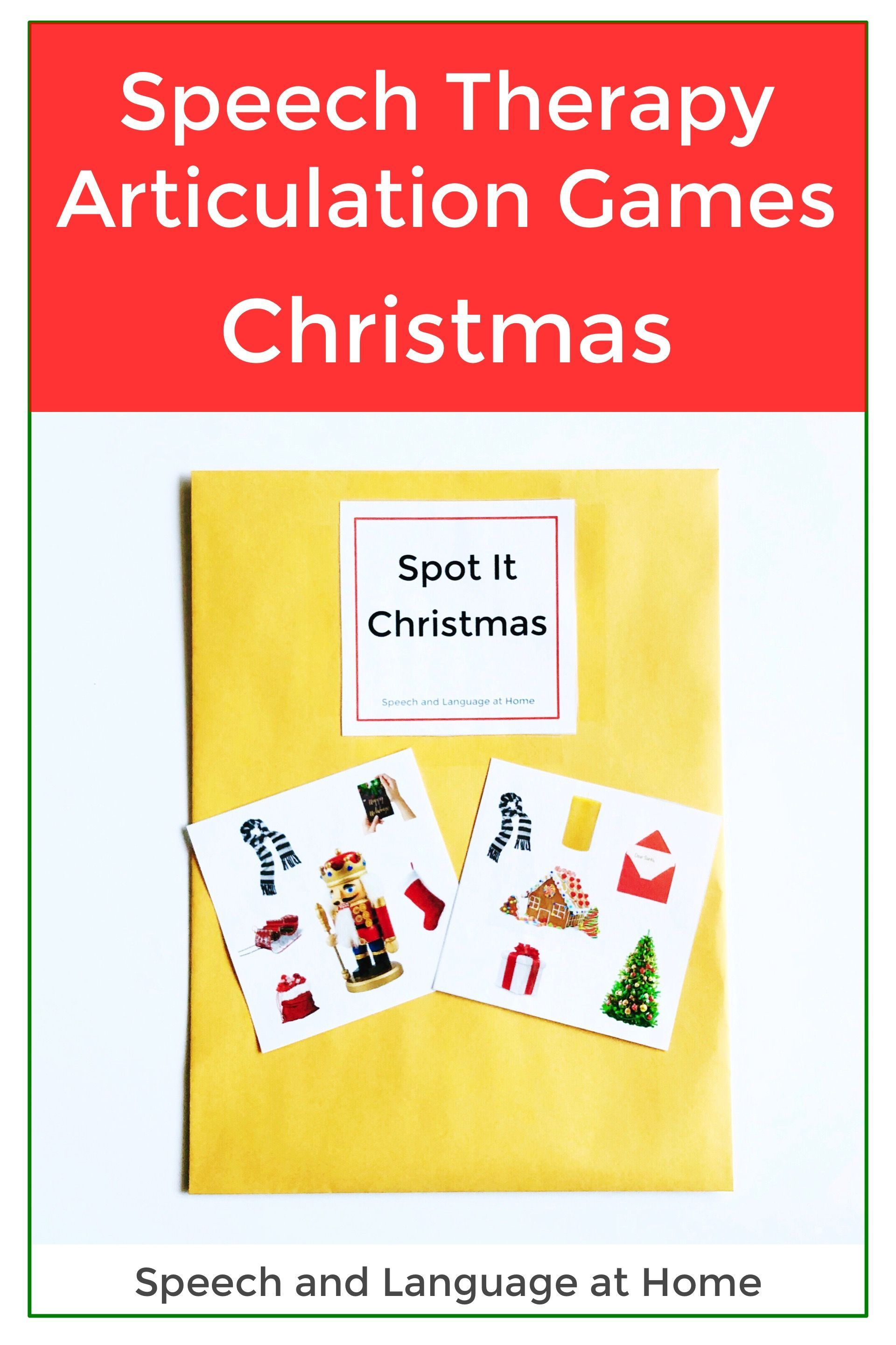 Speech Therapy Christmas Activities