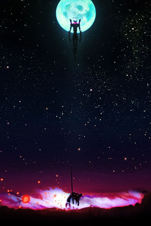 Neon Genesis Night Evangelion Parallax Hd Iphone Ipad Wallpaper