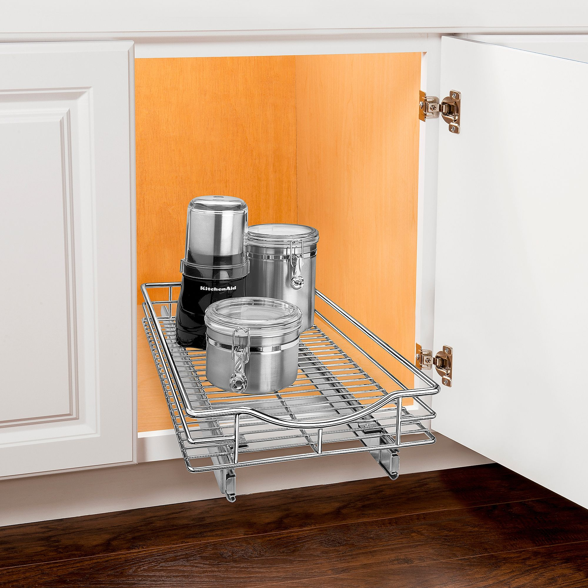 Lynk Professional Wide Roll Out 11 Inch Under Cabinet Sliding Shelf Sliding Shelves Cabinet Organization Cabinets Organization