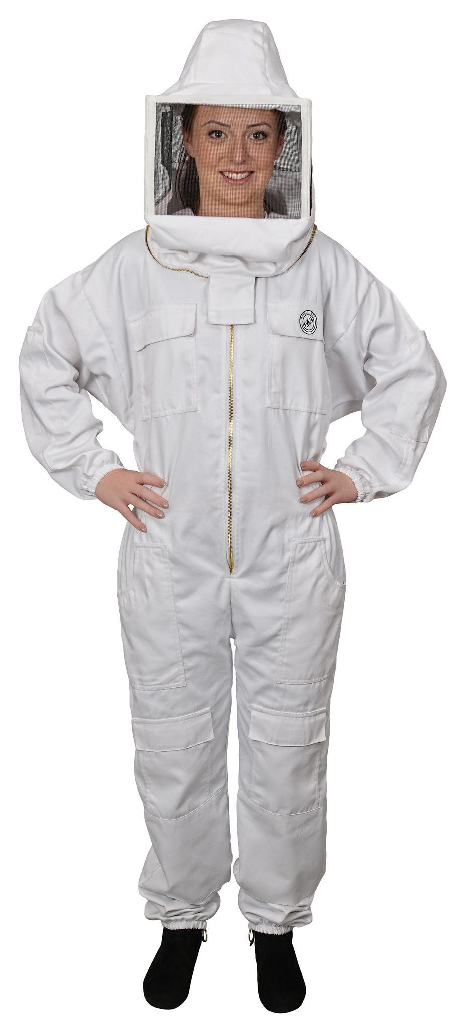 Polycotton Beekeeping Suit with Square Veil