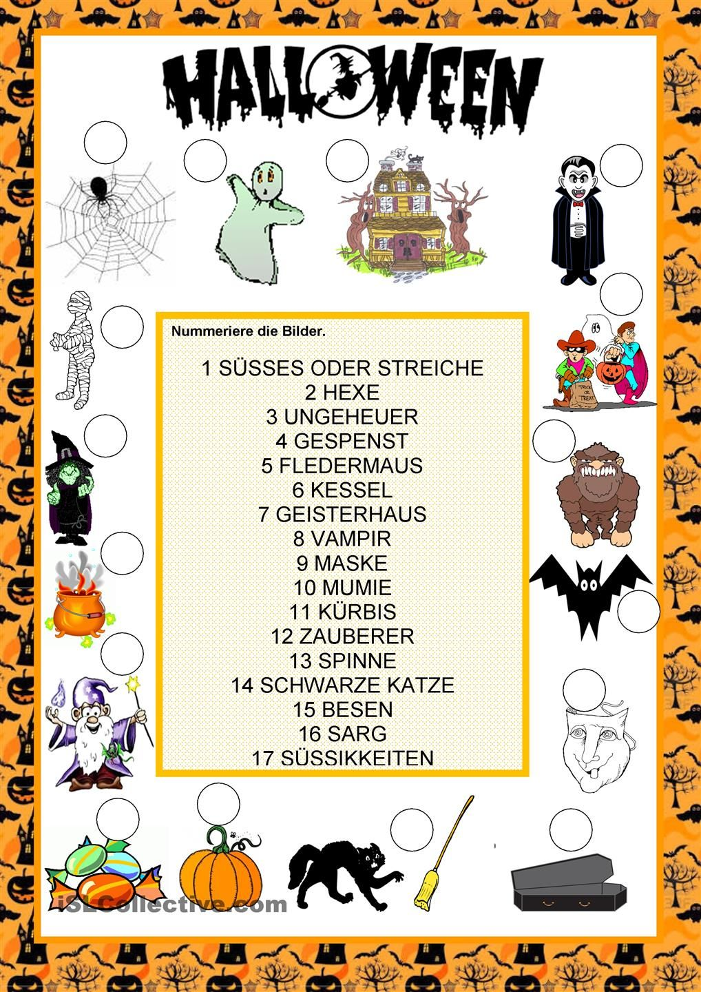 Halloween | Deutsch | Pinterest | Deutsch wortschatz, Deutsch und ...