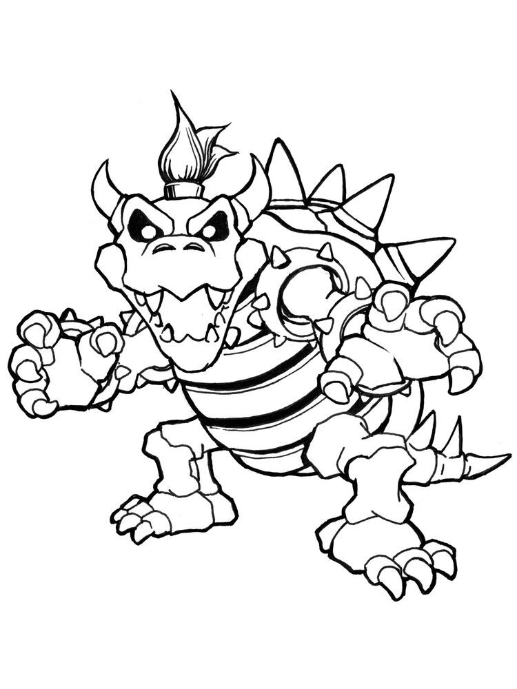 Bowser Coloring Pages Coloring Pages Cartoon Coloring Pages Bowser