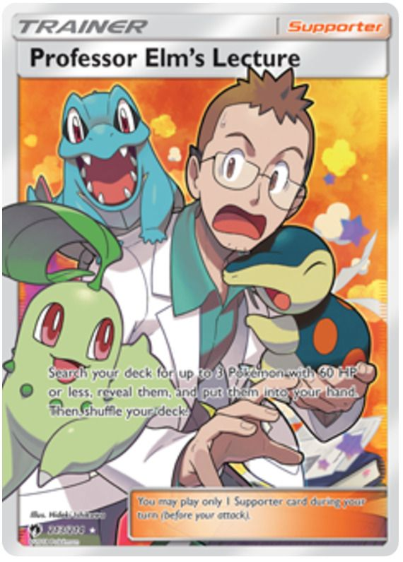 Pokemon Card: PROFESSOR ELM'S LECTURE 213/214 Lost Thunder
