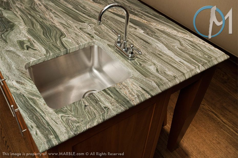 This Exclusive Rare Green And Gray Stone With Masses Of Intense Veining And Distinction Is A Tru Popular Kitchen