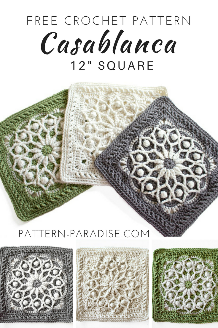 Casablanca 12 Square Pattern By Maria Bittner 6 Flowersgrannies