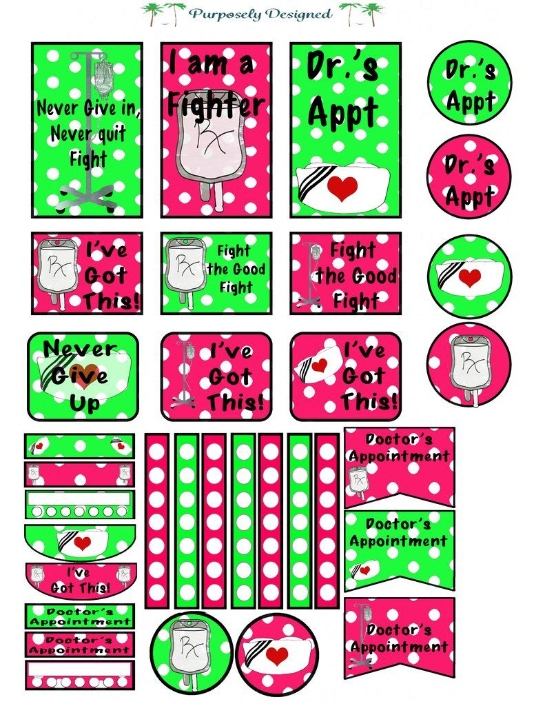 Big happy planner sticker sheet polka dot color sets medical stickers made for the big happy planner this is a free download for personal use only