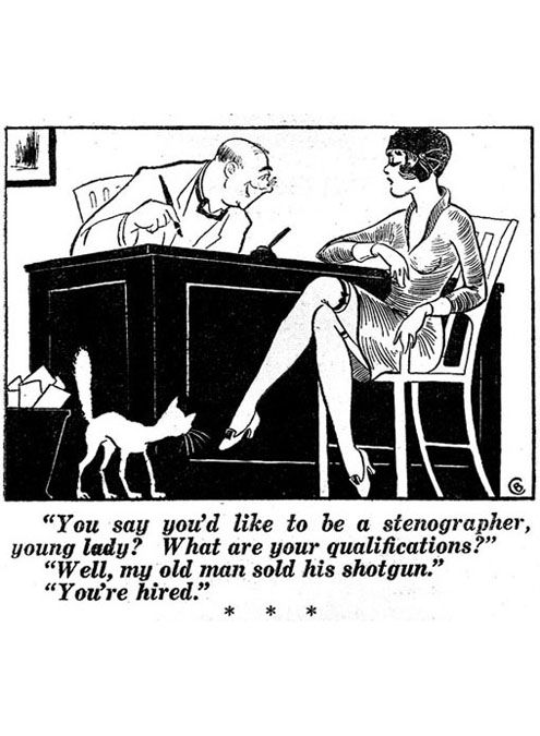 You Say Youd Like To Be A Stenographer