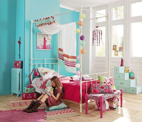 maisons du monde nouveaut s chambre enfant fille gar on ado pinterest couleurs vives. Black Bedroom Furniture Sets. Home Design Ideas