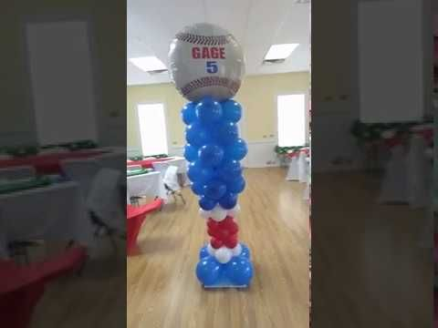 Balloon Baseball Bat Column