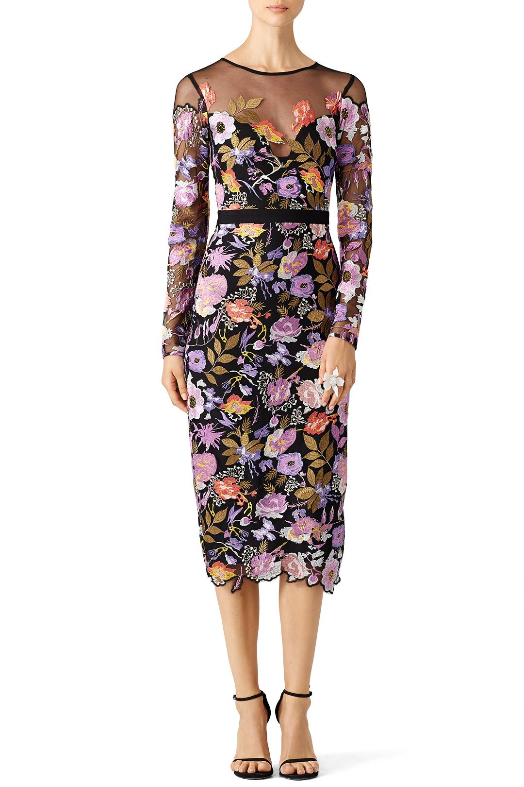 rent blossom mesh dressnicole miller for $115 - $130 only at