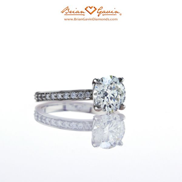 Glamour Shot of the Truth Micro Pave Setting in Platinum by Brian