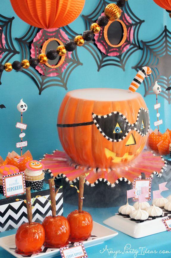 Glitterville Halloween Party Ideas Vintage Pumpkin from