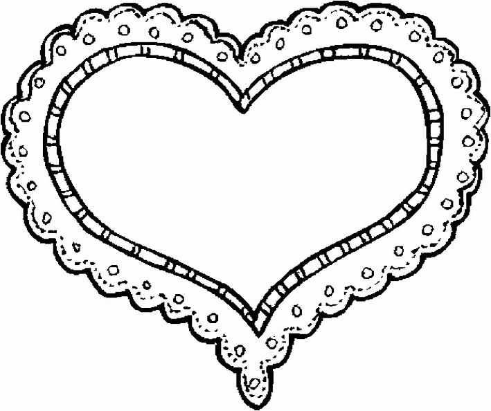 Embroidery Pattern Heart Coloring Pages Valentine Coloring Valentines Day Coloring Page