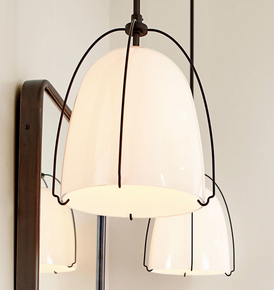 Haleigh 8 Opal Gl Dome Pendant Lighting In 2019