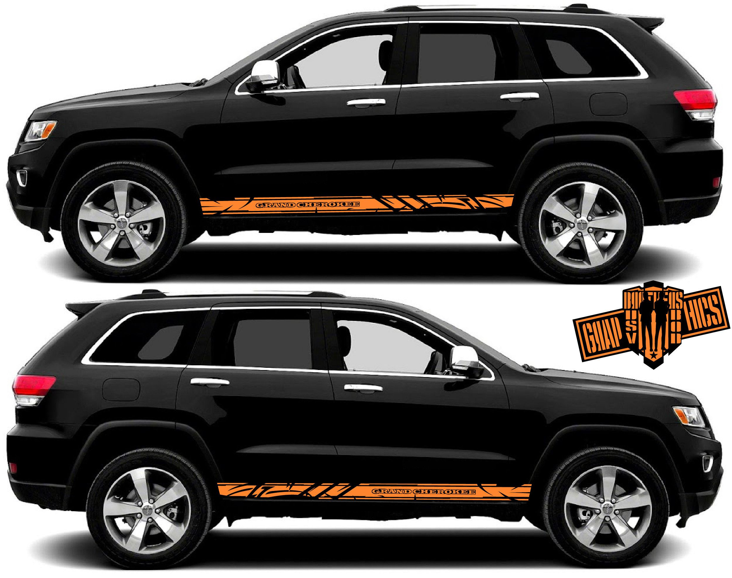 2012-2019 Jeep Grand Cherokee Mopar OEM Gloss Black Decals