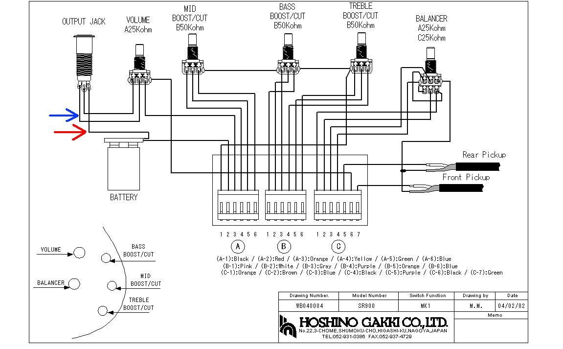 Ibanez Wiring Diagram Autoctono Me Inside B Guitar | Cell ... on