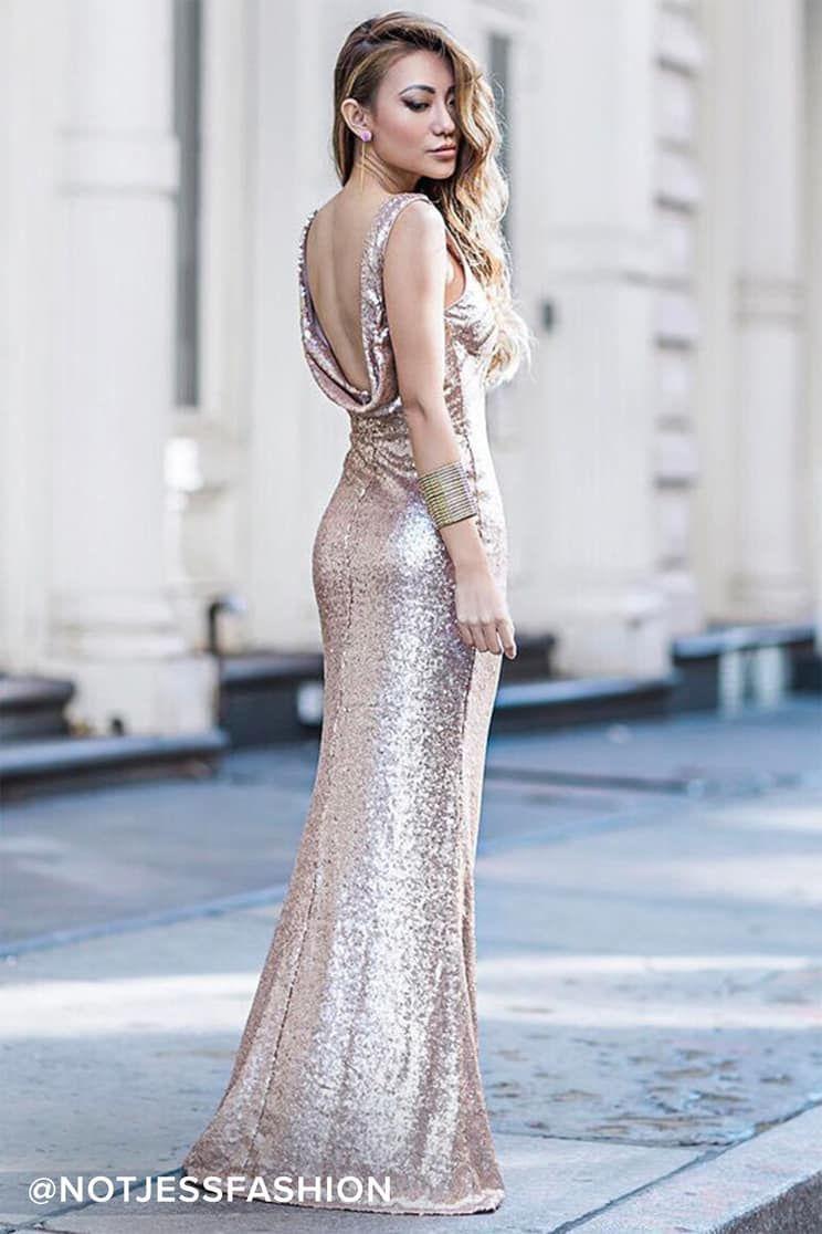 Pin on vestidos gold rose
