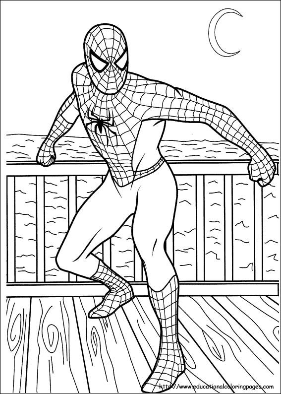 free coloring Spiderman pages | INKLEUR PRENTE | Spiderman ...